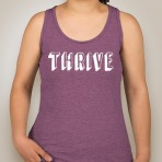 Thrive Tank Front Mauve