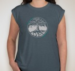 Trees Womens Deep Teal
